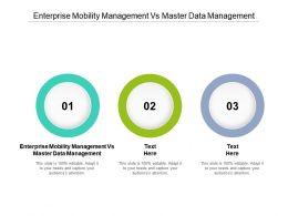 Enterprise Mobility Management Vs Master Data Management Ppt Powerpoint Presentation Slides Graphics Download Cpb