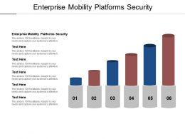 Enterprise Mobility Platforms Security Ppt Powerpoint Presentation Ideas Design Templates Cpb