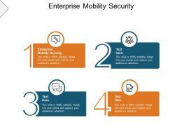 Enterprise Mobility Security Ppt Powerpoint Presentation Deck Cpb