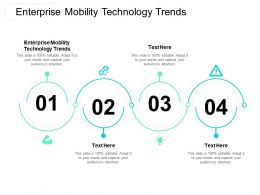 Enterprise Mobility Technology Trends Ppt Powerpoint Presentation Show Designs Cpb