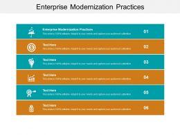Enterprise Modernization Practices Ppt Powerpoint Presentation Styles Brochure Cpb