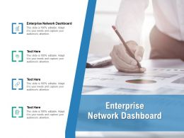 Enterprise Network Dashboard Ppt Powerpoint Presentation Summary Visual Aids Cpb