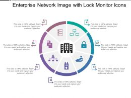 Enterprise Network Image With Lock Monitor Icons