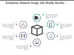 Enterprise Network Image With Mobile Monitor Data Icons