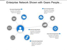 Enterprise Network Shown With Gears People And Vehicle Image