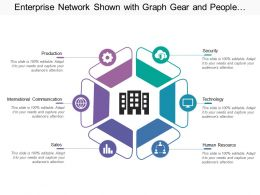 Enterprise Network Shown With Graph Gear And People Icons