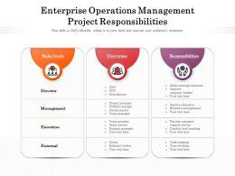 Enterprise Operations Management Project Responsibilities