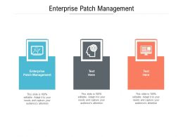 Enterprise Patch Management Ppt Powerpoint Presentation Slides Format Cpb