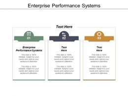 Enterprise Performance Systems Ppt Powerpoint Presentation Outline Outfit Cpb