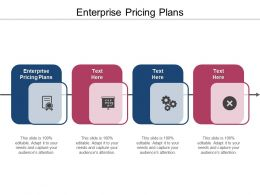 Enterprise Pricing Plans Ppt Powerpoint Presentation Guide Cpb