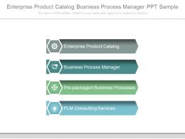 Enterprise Product Catalog Business Process Manager Ppt Sample