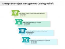 Enterprise Project Management Guiding Beliefs