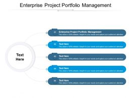 Enterprise Project Portfolio Management Ppt Powerpoint Presentation Themes Cpb