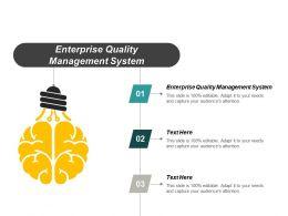 Enterprise Quality Management System Ppt Powerpoint Presentation Portfolio Aids Cpb