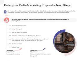 Enterprise Radio Marketing Proposal Next Steps Ppt Powerpoint Styles Ideas
