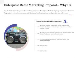 Enterprise Radio Marketing Proposal Why Us Ppt Powerpoint Template Images