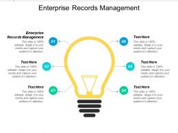 Enterprise Records Management Ppt Powerpoint Presentation Icon Master Slide Cpb