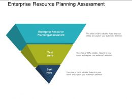 Enterprise Resource Planning Assessment Ppt Powerpoint Presentation Layouts Objects Cpb
