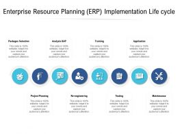 Enterprise Resource Planning ERP Implementation Life Cycle