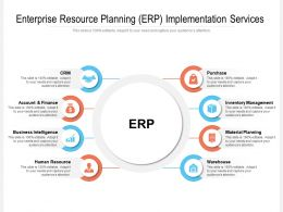 Enterprise Resource Planning ERP Implementation Services