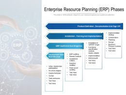 Enterprise Resource Planning ERP Phases