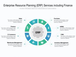 Enterprise Resource Planning ERP Services Including Finance