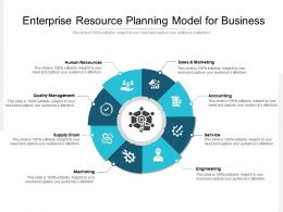 Enterprise Resource Planning Model For Business