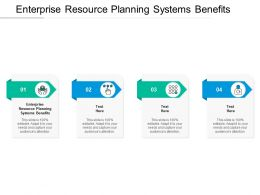 Enterprise Resource Planning Systems Benefits Ppt Powerpoint Presentation Icon Gallery Cpb