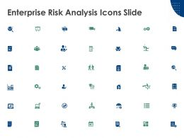 Enterprise Risk Analysis Icons Slide Gears Magnifying Glass A1 Ppt Powerpoint Presentation
