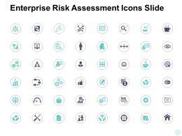 Enterprise Risk Assessment Icons Slide Growth Gear E390 Ppt Powerpoint Icon