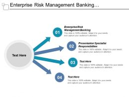 Enterprise Risk Management Banking Presentation Specialist Responsibilities Organizational Boxes Cpb