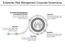 Enterprise Risk Management Corporate Governance Ppt Powerpoint Presentation Outline Mockup Cpb