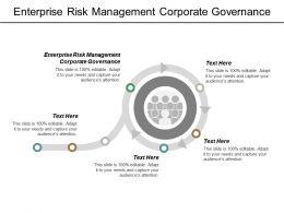 Enterprise Risk Management Corporate Governance Ppt Powerpoint Presentation Outline Mockup Cpb