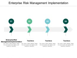 Enterprise Risk Management Implementation Ppt Powerpoint Presentation Slides Slideshow Cpb