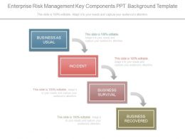 Enterprise Risk Management Key Components Ppt Background Template