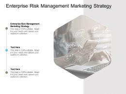 Enterprise Risk Management Marketing Strategy Ppt Powerpoint Presentation Infographics Skills Cpb