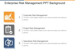 Enterprise Risk Management Ppt Background