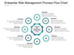 Enterprise Risk Management Process Flow Chart Ppt Powerpoint Presentation Portfolio Cpb