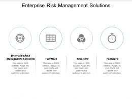 Enterprise Risk Management Solutions Ppt Powerpoint Presentation Icon Clipart Cpb