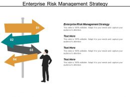 Enterprise Risk Management Strategy Ppt Powerpoint Presentation Pictures Samples Cpb