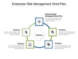 Enterprise Risk Management Work Plan Ppt Powerpoint Presentation Infographics Templates Cpb