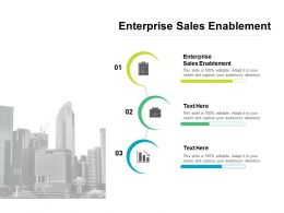 Enterprise Sales Enablement Ppt Powerpoint Presentation Infographics Deck Cpb