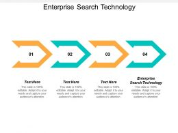 Enterprise Search Technology Ppt Powerpoint Presentation Icon Rules Cpb