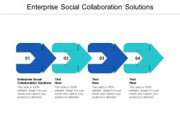 Enterprise Social Collaboration Solutions Ppt Powerpoint Presentation Professional Layout Cpb