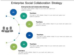Enterprise Social Collaboration Strategy Ppt Powerpoint Presentation Slides Templates Cpb