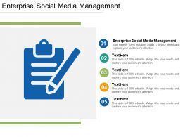 Enterprise Social Media Management Ppt Powerpoint Presentation Gallery Example Introduction Cpb