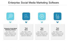 Enterprise Social Media Marketing Software Ppt Powerpoint Presentation Summary Inspiration Cpb