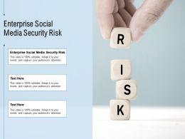 Enterprise Social Media Security Risk Ppt Powerpoint Presentation Model Example File Cpb
