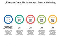 Enterprise Social Media Strategy Influencer Marketing Ppt Powerpoint Presentation Visual Aids Professional Cpb