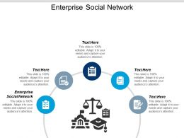 Enterprise Social Network Ppt Powerpoint Presentation Infographic Template File Formats Cpb